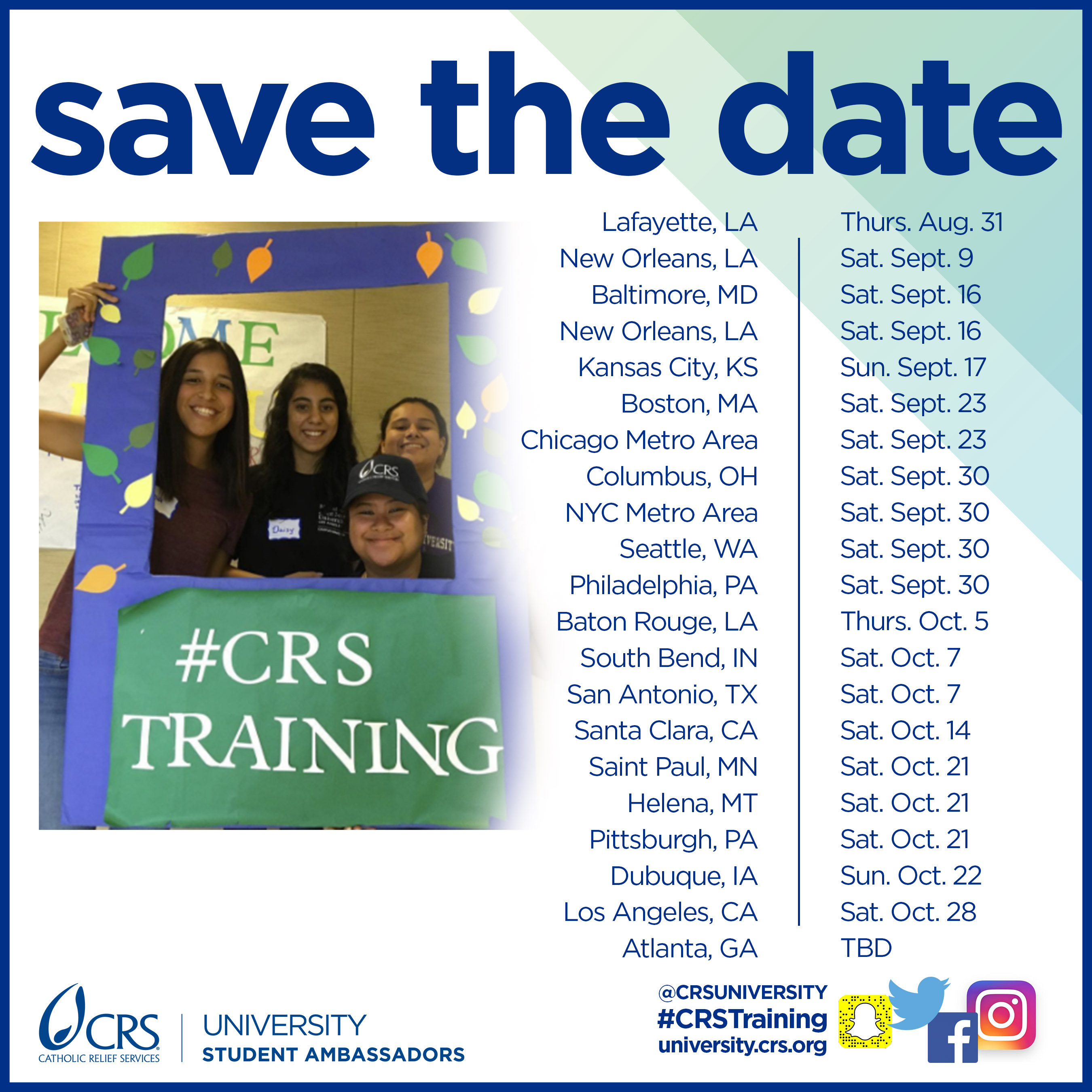 Training Save the Date