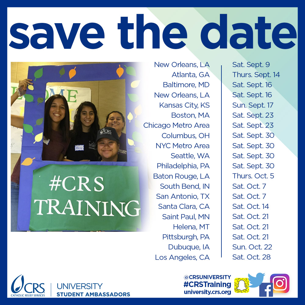 CRS Training Save the Date