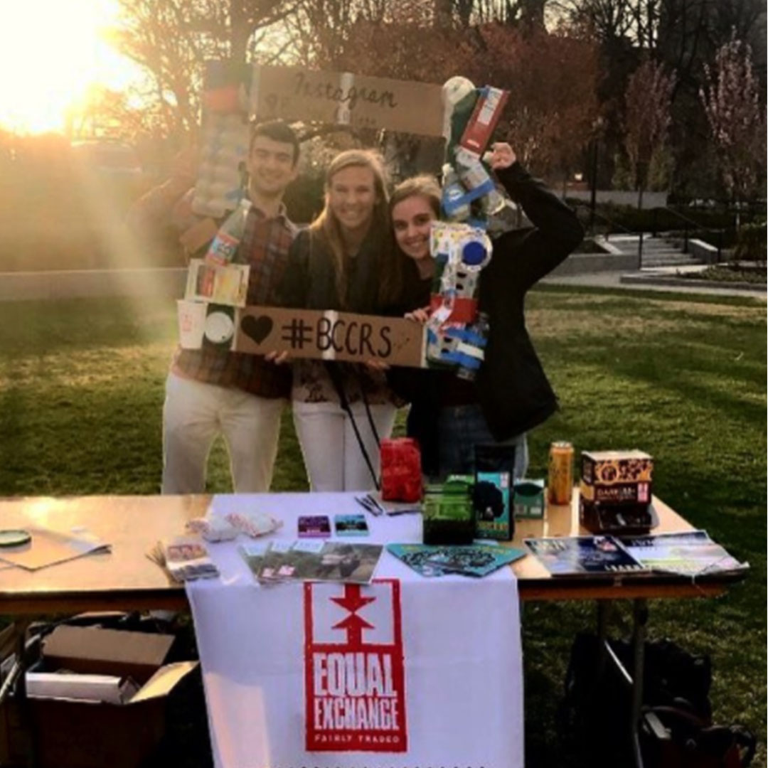 BC Student Ambassadors tabling an event for climate change