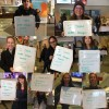"Collage of pictures with students holding signs saying ""I stand with refugees because..."""